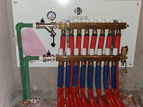 地暖分集水器安装
